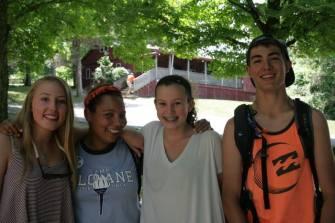 summer camp counselor kids friends