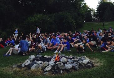 summer camp usa campfire