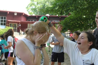 Summer camp usa counselor water fight