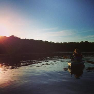 Summer camp usa kayaking lake