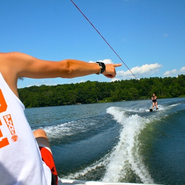 Summer Camp USA Counselor Waterski Teaching