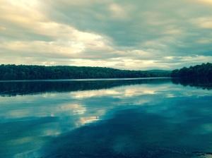 summer camp usa lake sunset