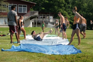 Summer camp usa counselor slip n slide