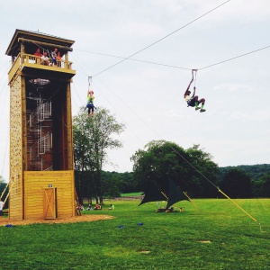 Summer Camp USA counselor activities zip line