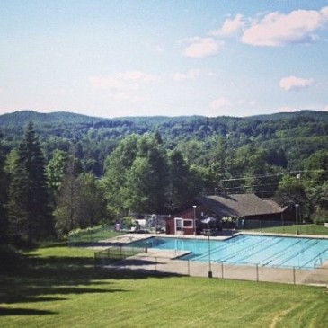 summer camp view pool