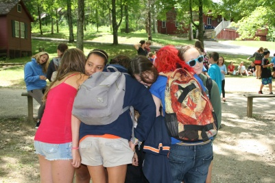 Summer Camp USA Camp Counselor hug