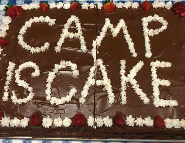 summer camp cake