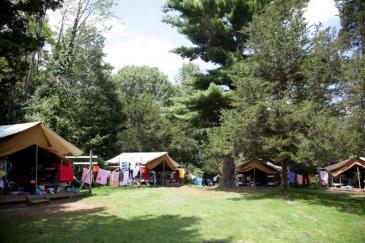 summer camp tents