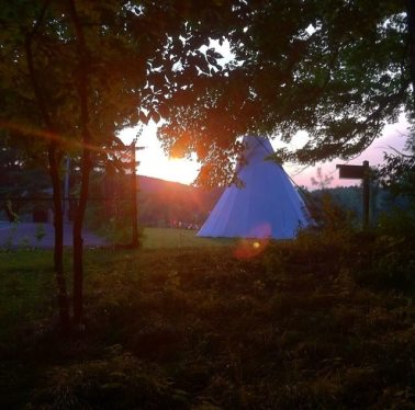 Summer Camp Sunset Teepee