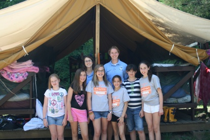 Summer camp counselor tent