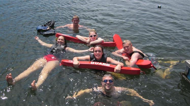 Summer Camp Counselor Swimming Lifeguard Lake
