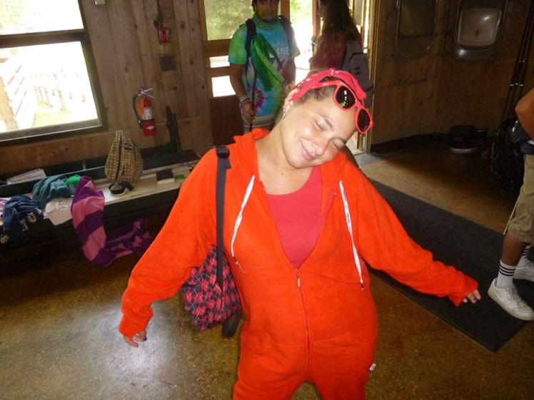 Summer Camp Counselor Color War Red Onesie