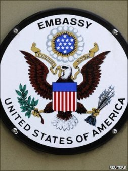 US Embassy sign