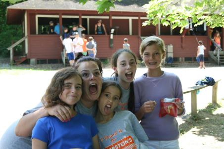 summer camp counselor campers smiles