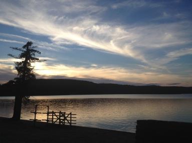 Summer Camp Lake Sunset