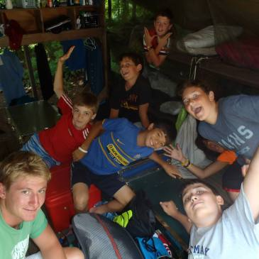 summer camp tent counselor campers