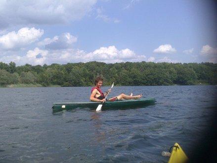 summer camp counselor lake