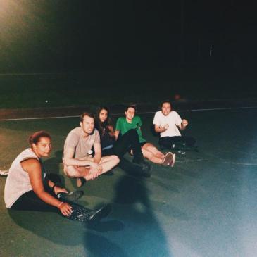 Basketball court summer camp counselors