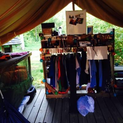 summer camp tent