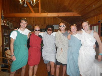 Summer Camp Toga Dress up