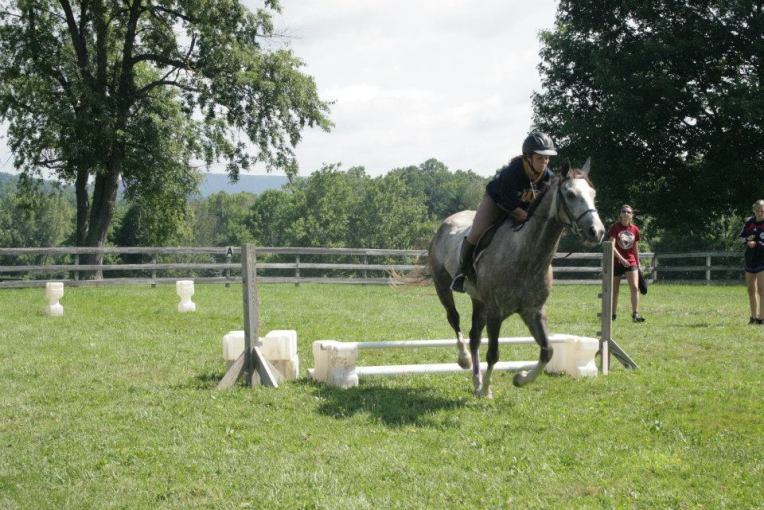 summer camp riding lesson