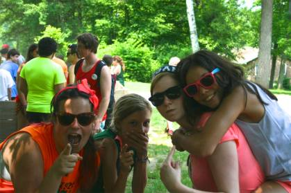 Summer camp counselors campers kids