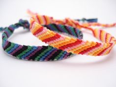 Candy Stripe bracelets