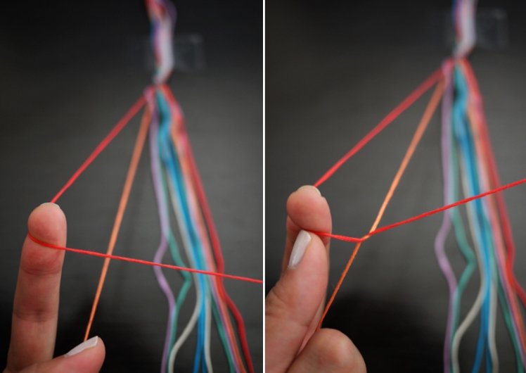friendship bracelet forward knot