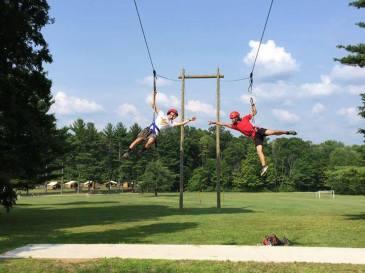 Summer Camp Counselor zip line