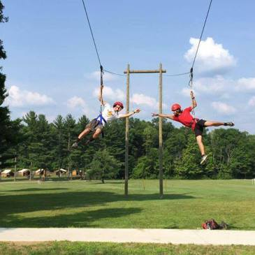 Summer Camp Counselor zip line