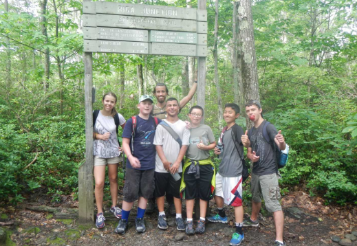 Summer Camp Counselor hiking