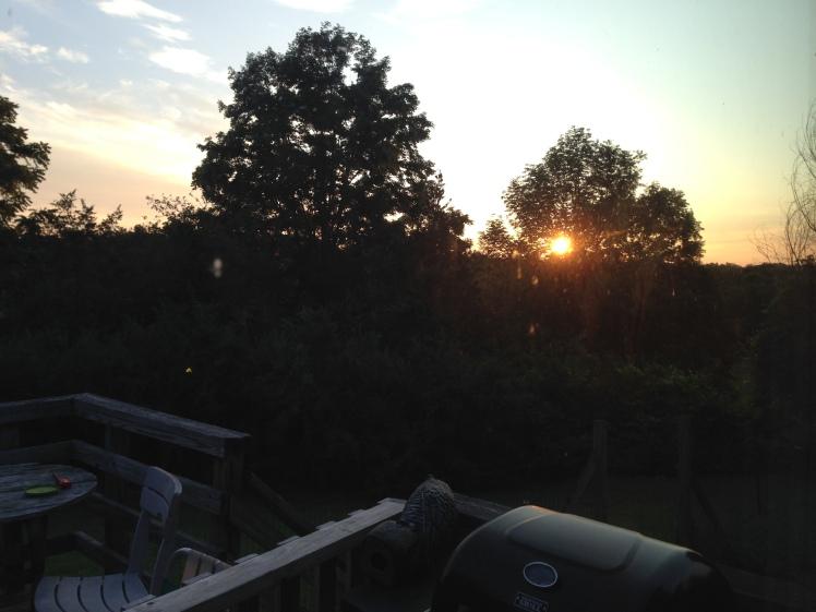 Summer Camp sunrise