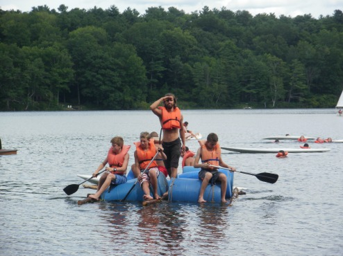 Summer Camp Counselor raft building