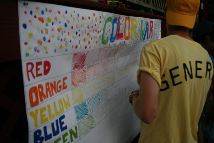 Camp Summer Camp Color War