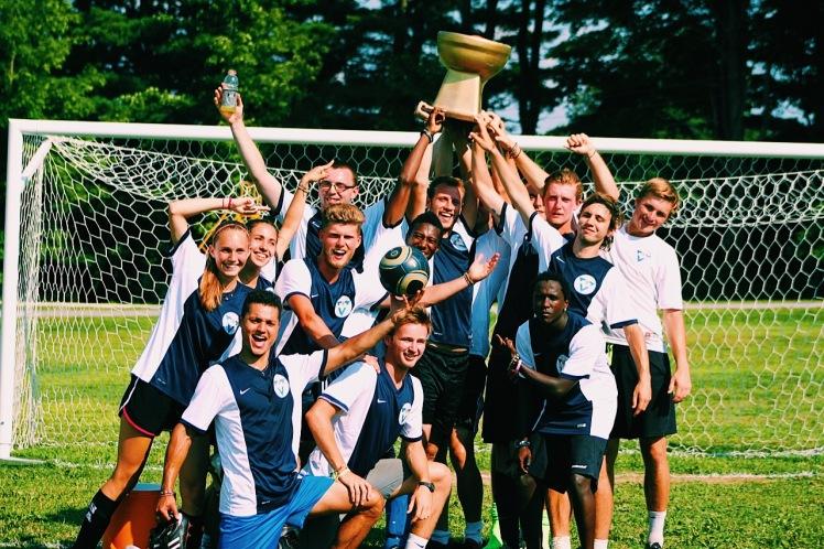 Summer Camp soccer winners trophy