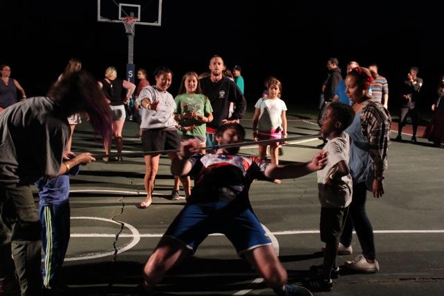 summer camp family camp dance limbo