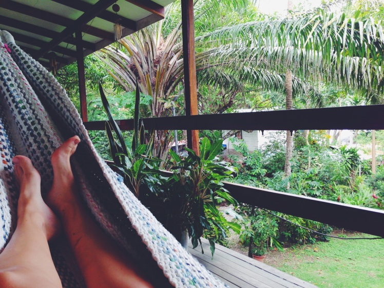 Costa Rica Hammock feet lazy