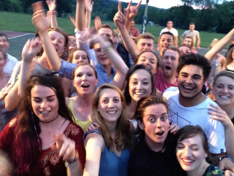 Square Dance summer camp selfie staff