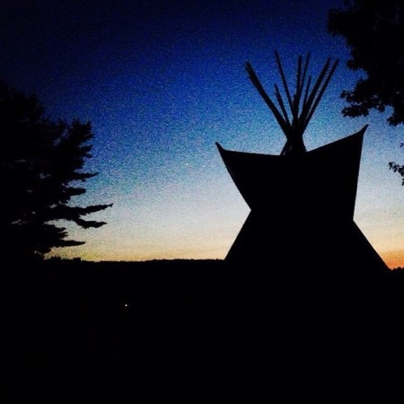 Teepee camping summer camp