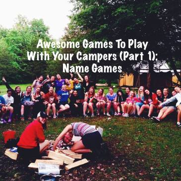 Summer camp awesome games name games