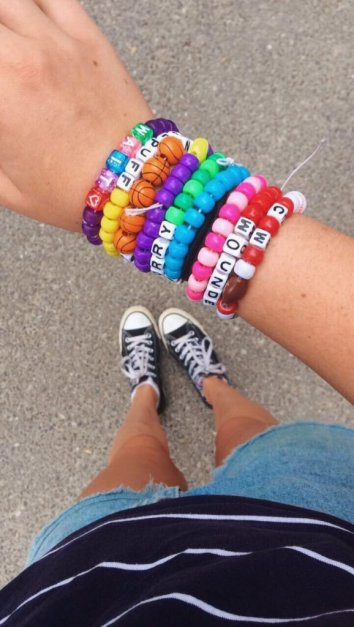Summer camp counsellor friendship bracelets