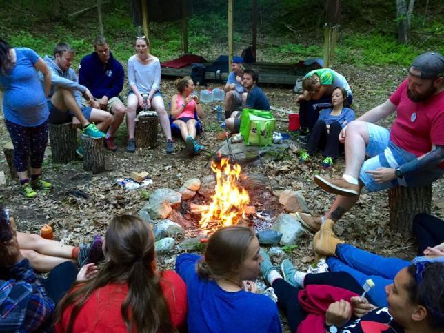 summer camp campfire
