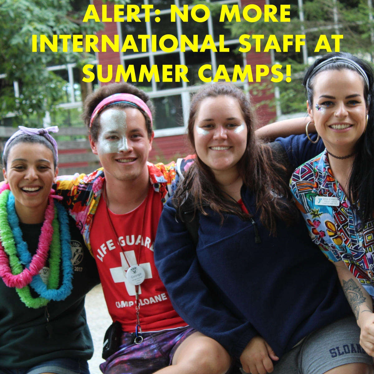 ALERT: NO MORE INTERNATIONAL STAFF AT SUMMER CAMPS!