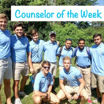 counsellor of the week summer camp