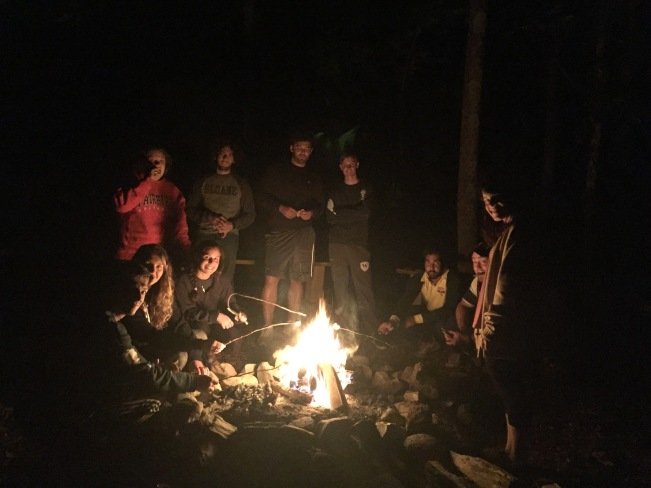 summer camp USA counselor campfire