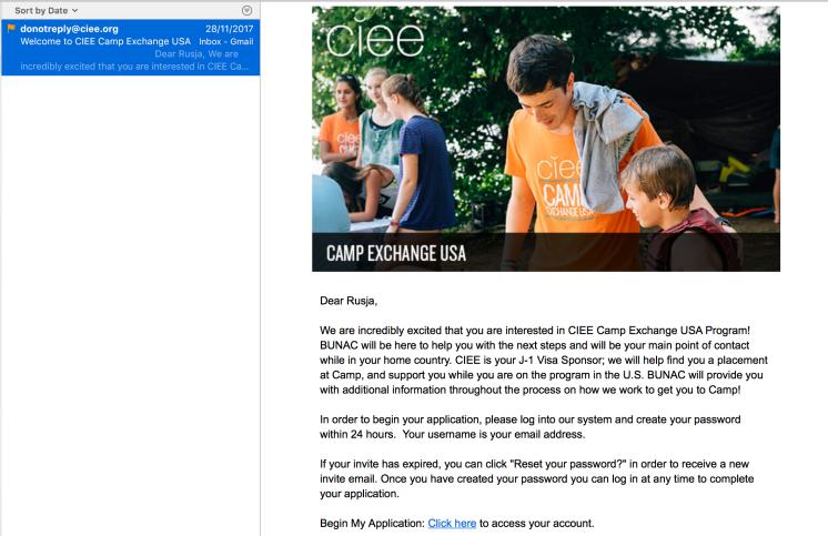 CIEE BUNAC Application