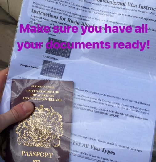 Summer camp J1 visa documents