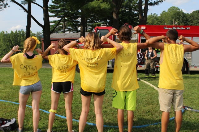 Summer camp counselor color war